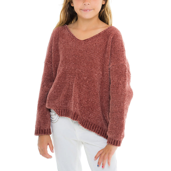 Woven Heart Girls Sweater
