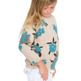 Woven Heart Girls Floral Girls Sweater