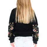Woven Heart Girls Embroidery Sweater