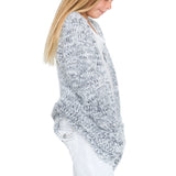 Woven Heart Girls Eyelash Cardigan