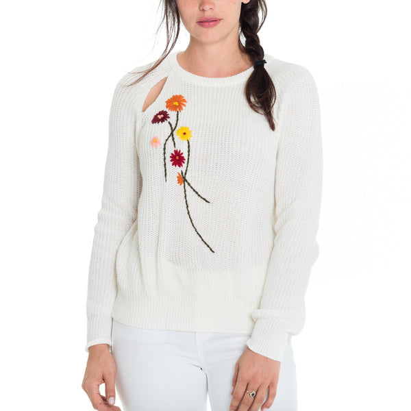 Woven Heart Bleu Laney Peek A Boo Sweater
