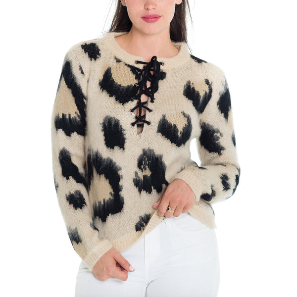Woven Heart Animal Sweater
