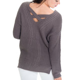 Woven Heart Night Sweater