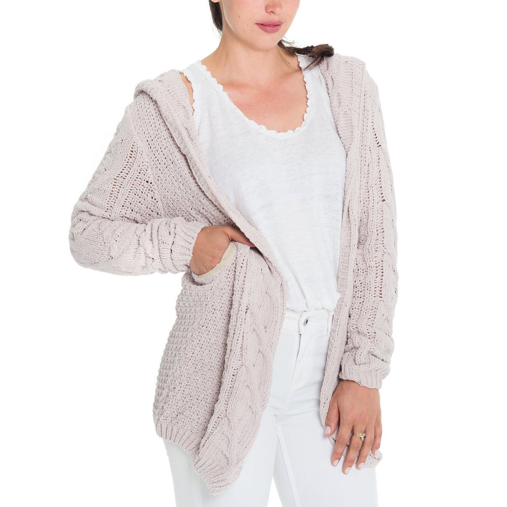 Woven Heart Cable Cardigan