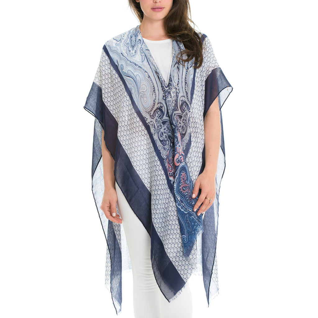 Woven Heart Paisely Wrap