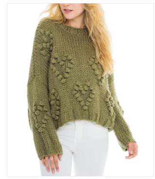 Woven Heart Hearts Sweater