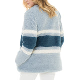 Woven Heart Color Blocked Sweater