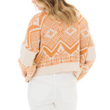 Woven Heart Patterned Sweater