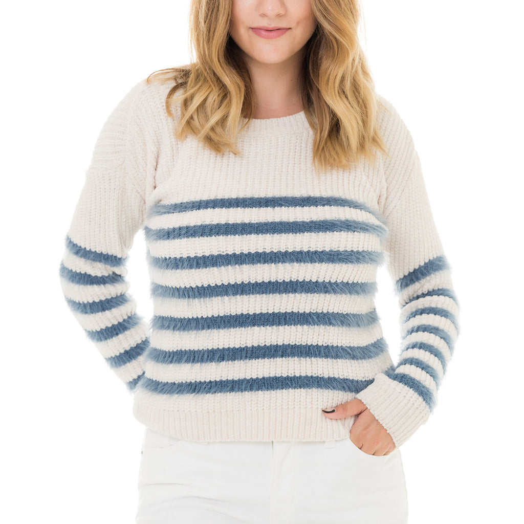 Woven Heart Striped Cardigan