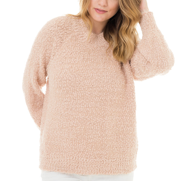 Woven Heart Cozy Blush Sweater