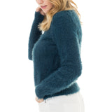 Woven Heart Cozy Sweater