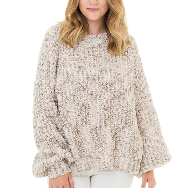 Woven Heart Oversized Sweater