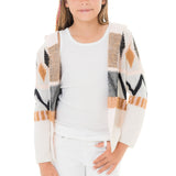 Girls Navajo Hood Cardigan