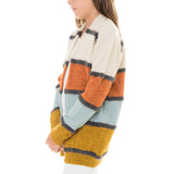 Girls Stripe Sweater Cardigan