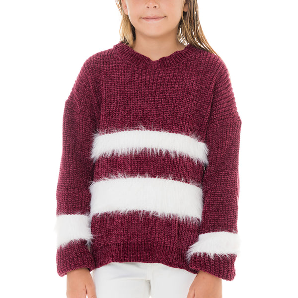 Girls Eyelash Stripe Pullover