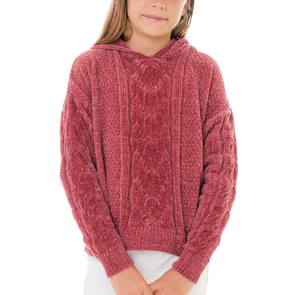 Girls Cable Knit Pullover Sweater