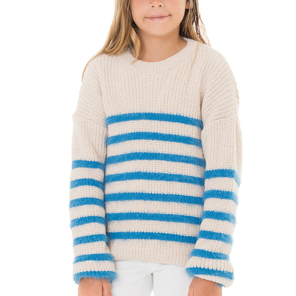 Girls Pullover Striped Sweater