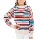 Girls Chenille Multi Stripe Sweater