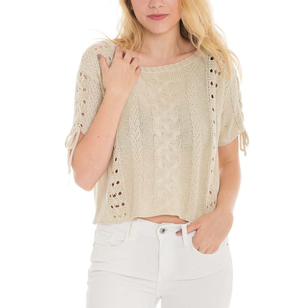 Woven Heart Sweater Shirt