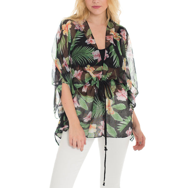 Woven Heart Tropical Cover Up