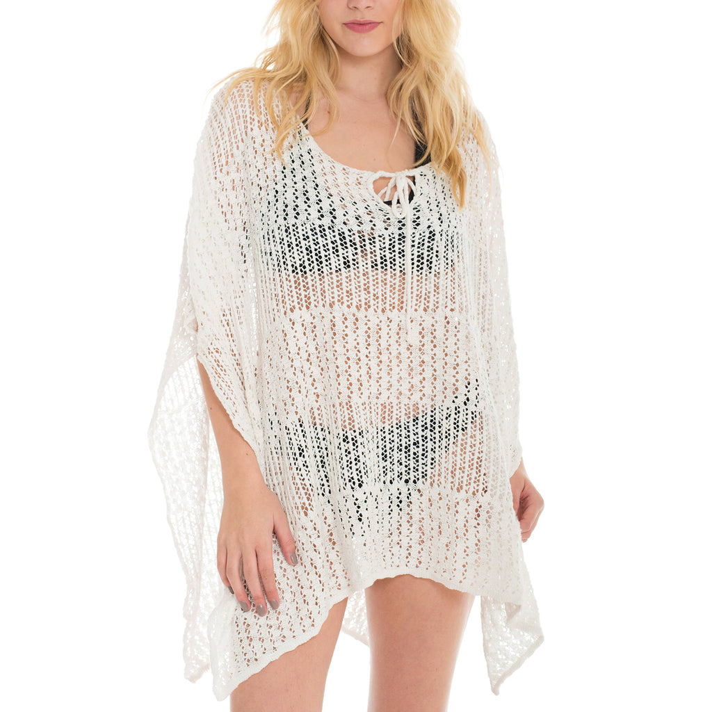Woven Heart Knitted Poncho