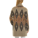 Native Woven Heart Cardigan