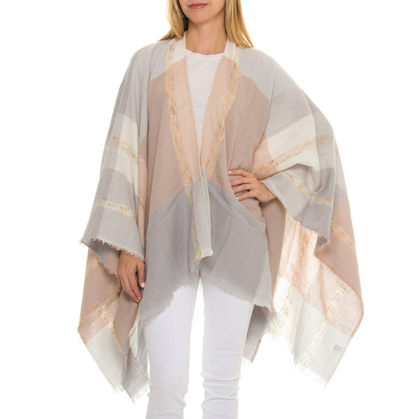 Lainey Woven Heart Bleu Cape
