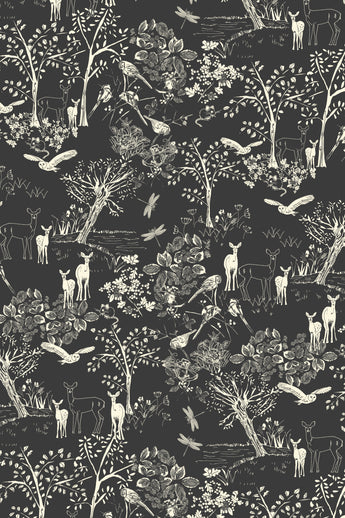 Deer in Forest - Taupe