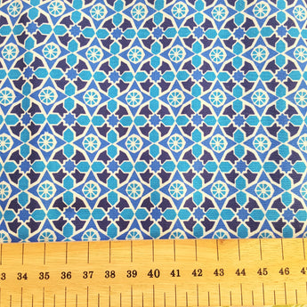 Blue Retro Lawn - End of Bolt - 2.5m x 112cm