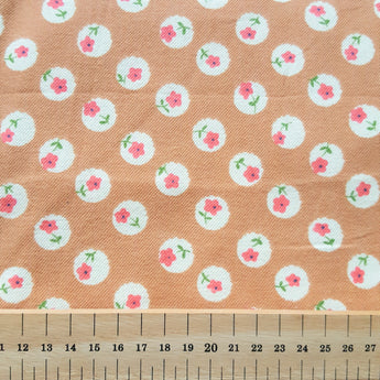 Vintage Brown Flowers - Brushed Cotton