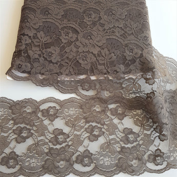 Dark Brown Lace Trim -Wide