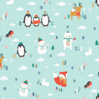 Festive Friends - Blue Penguins and Animals