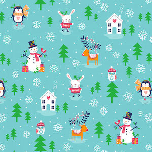 Merry Little Christmas - Penguins and Rabbits