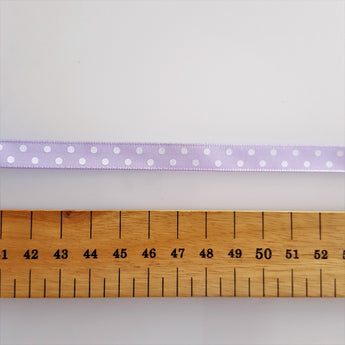 Lilac Polka Dot Ribbon