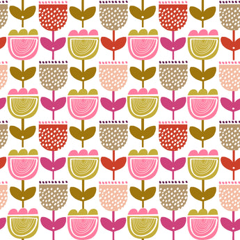 Retro Orchard - Multi Yellow and pink flower