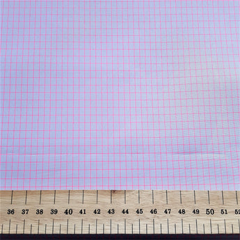 Rayon- Lilac with Pink Check