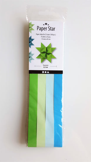 Star Paper - Blue and Green