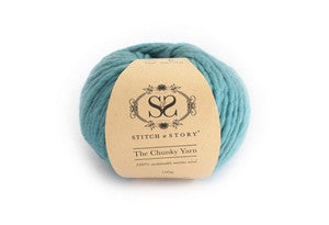 S&S The Chunky Yarn-Stone Teal - ONE BALL LEFT