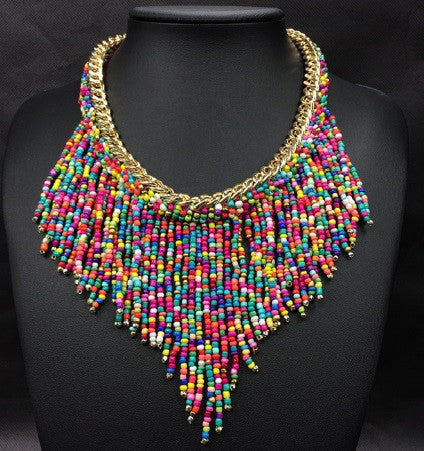 Multicolor Bead Necklace