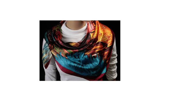 Multicolored Satin Scarf