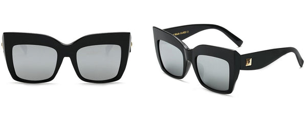 Thick Squared Mirrored Sunglasses