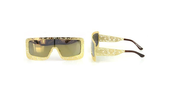 Gold Lace Sunglasses