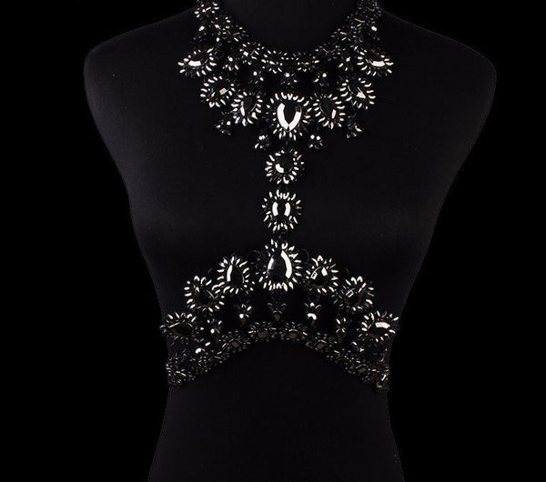 Vintage Rhinestone Necklace/Body Chain