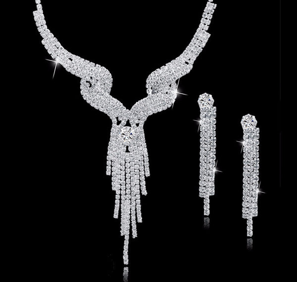 Sparkling Wedding Jewelry/Prom/Event Necklace Set (Multiple Styles)