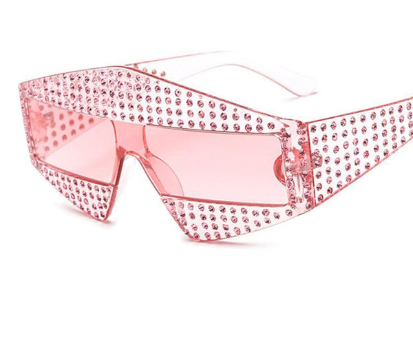 Diamond Studded Retro Women Sunglasses