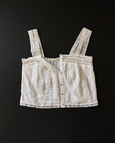 Edwardian Inspired Lace Inserts Tank Top