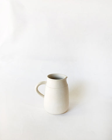Beanpole Pottery Small Pitcher Matte White