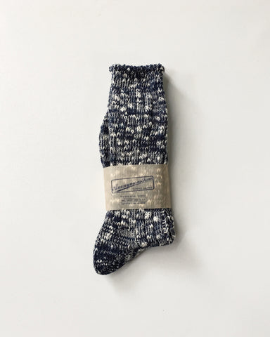 Anonymous Ism Slub Crew Navy Socks