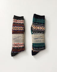 Anonymous Ism Fair Isle Teal Socks
