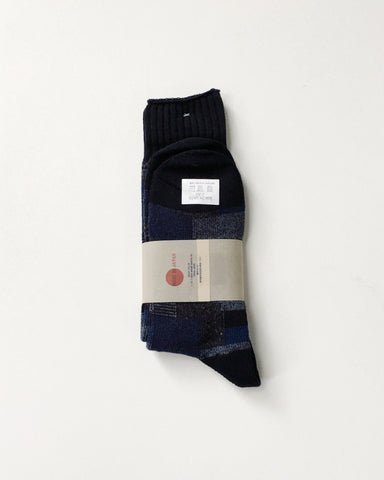 Anonymous Ism Patchwork Navy Socks